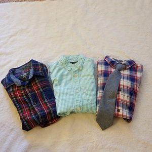 H&M // boys bundle of 3 button down shirts